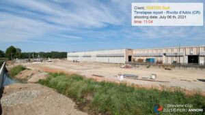 Timelapse photo video service at Faster SpA construction site in Rivolta d'Adda