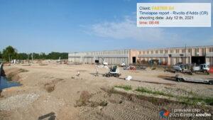 Timelapse photo video service at Faster Srl construction site in Rivolta d'Adda