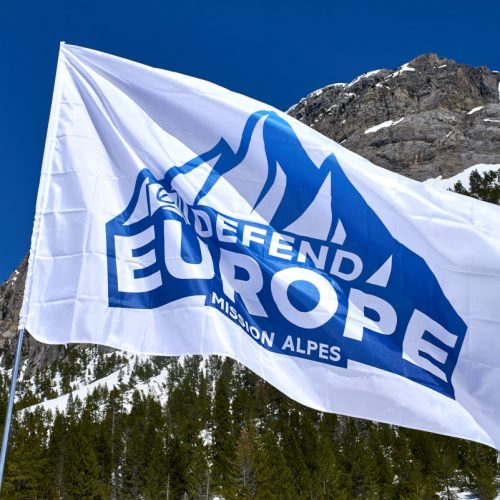 Defend Europe effort to protect European borders from illegal immigration at Col de l'Echelle in France.