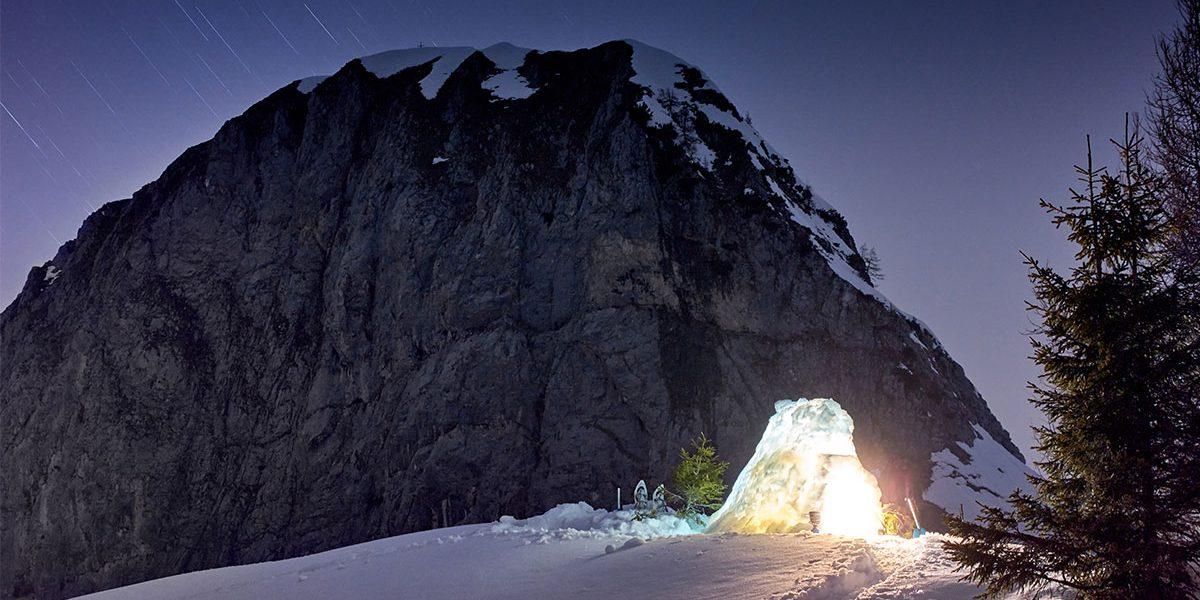 Avventura nelle nevi delle Orobie in alta Val Sedornia. Pernottamento sotto le stelle e nel confortevole igloo