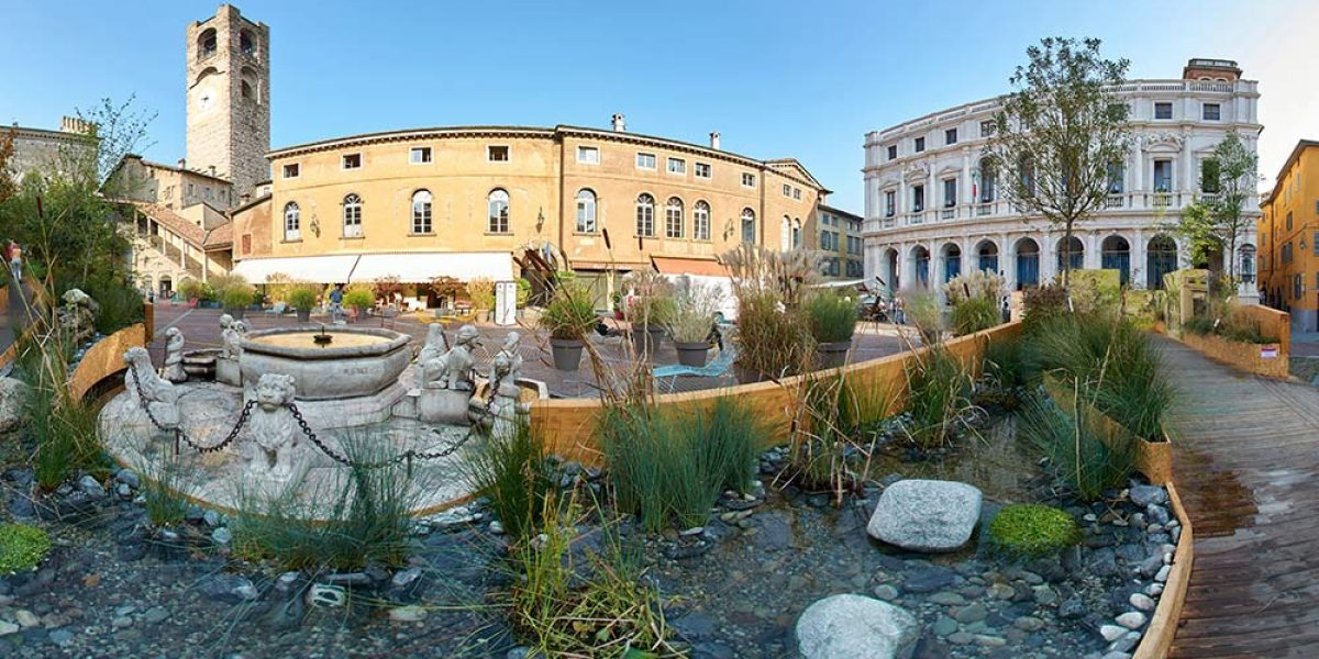 Wild Landscape, edition 2016, the new artistic installation in one of the nicest square of Bergamo Old Town, Città Alta